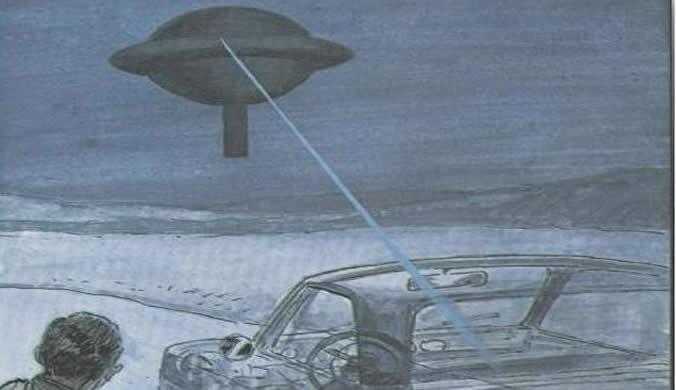 Um raio luminoso atingiu o carro do vendedor e o tornou transparente