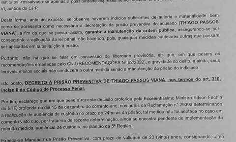 Justiça manda prende assassino de capoeirista morto a tiros em Itaúnas