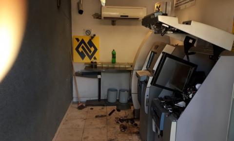 Ladrões arrobam caixa eletrônico em São Domingos do Norte