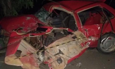 Acidente deixa casal e duas crianças feridos na BR-259