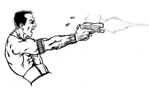 Executado a tiros no meio da rua em Baixo Guandu